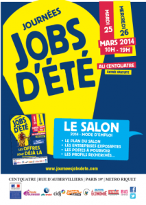 job d'ete paris
