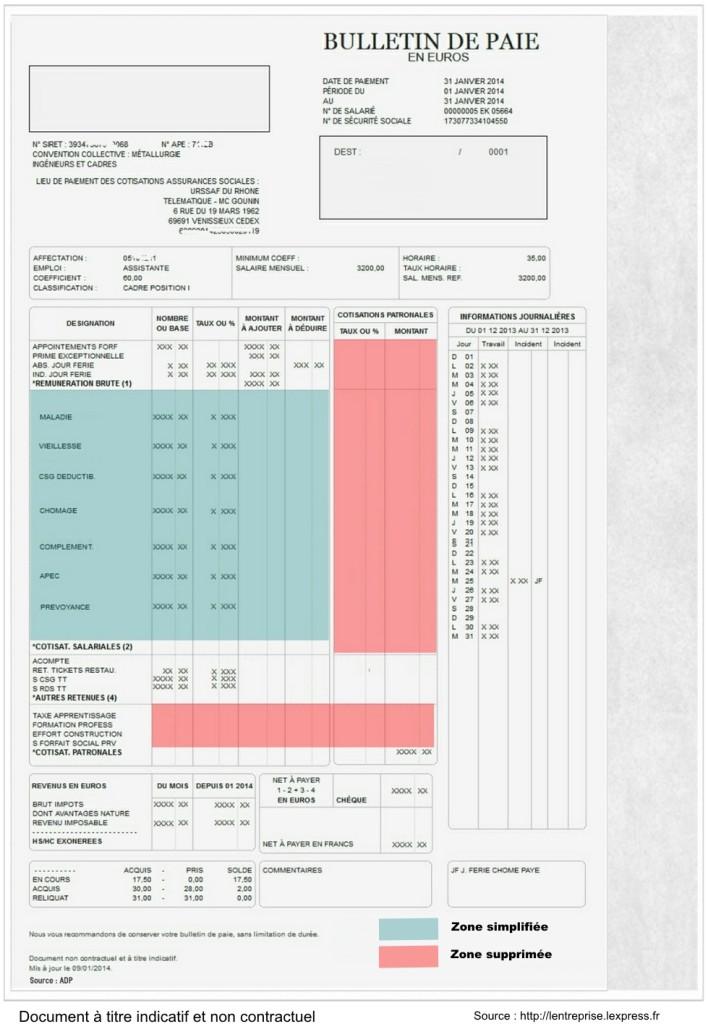 bulletin de paie simplifiée